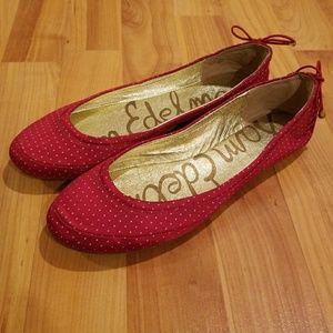 Sam Edelman Red Ballet Flats